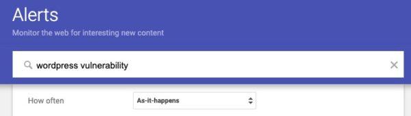 Google Alert for WP Maintenance